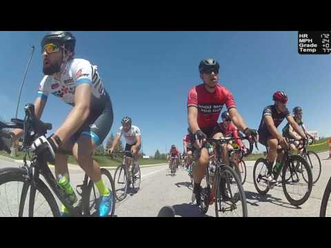 HD 2017 Road Bicycle Racing - REAR CAMERA Circuit Race (Trainer/Rollers)