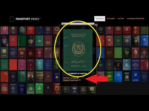 Apne Pakistani Passport ki ranking dekho pehle