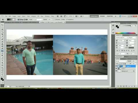 how to merge two photos in photoshop  Step by step Guide in Hindi