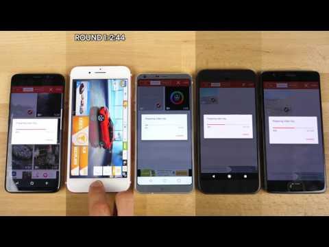 Speed Test Galaxy S8 vs 7 Plus vs Pixel vs LG G6 vs  One plus 3T
