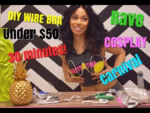 DIY WIRE BRA FOR RAVERS AND MASQUERADERS