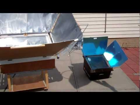 Quick comparison between my diy solar oven and the Global Sun Ov