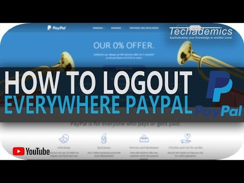 How To Log Out All Devices on Paypal   Disable PayPal One Touch