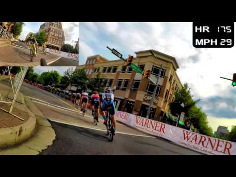 HD 2016 Road Bicycle Racing - Getting Dropped in a Brutal Crit (Trainer/Rollers)