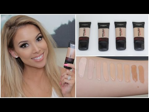 L'Oreal Infallible Pro Matte Foundation | Review, Swatches, Tips | Lustrelux