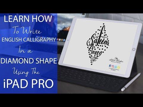 Write English Calligraphy in a Diamond Shape using the iPad Pro