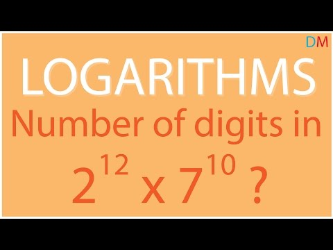 Logarithms – Finding the number of digits in a^b