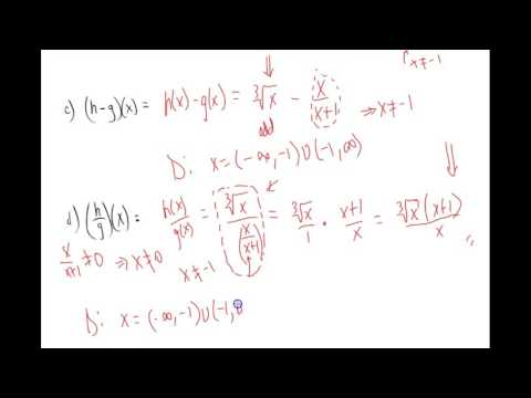 Sum, Difference, Product, and Quotient of Two Functions