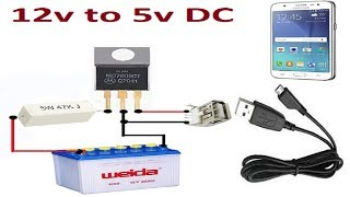 diy 12v charger battery with 5v mobile phone charger Videos