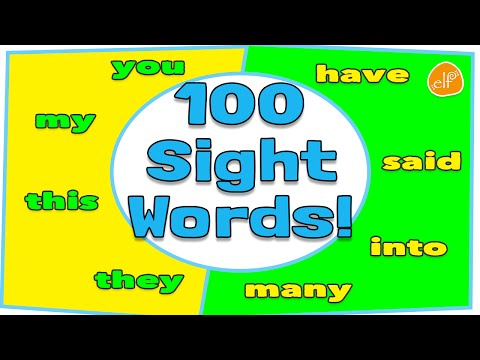 100 Sight Words Collection for Children - Dolch Top 100 Words by ELF Learning