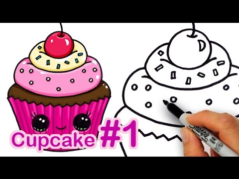 Xxx Mp4 How To Draw A CUTE Cupcake 1 Step By Step Easy Sweet Dessert 3gp Sex
