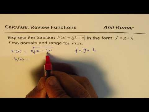 Find f of g of h Composite Functions
