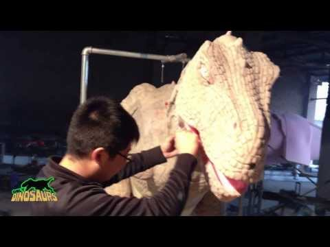 Cool Popular Dinosaur Costume's Making Process and Testing