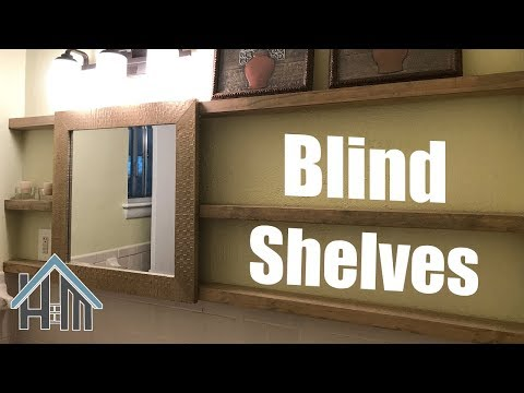 How to build blind shelves, replace medicine cabinet, bath shelves. Easy! Home Mender.