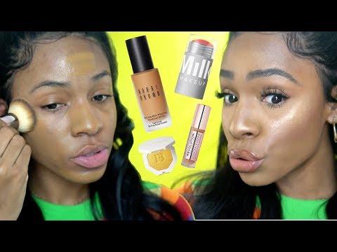 Trying NEW MAKEUP FAVS: Bobbi Brown Foundation + Makeup Revolution Concealer ▸ VICKYLOGAN