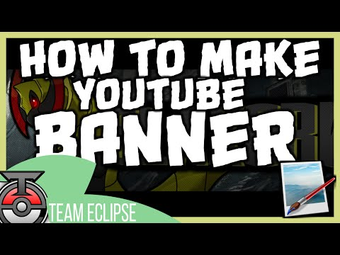 Tutorial How to make Youtube Banners/ Channel Art 2015 W Paint.net