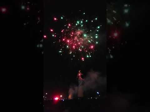 Atishbaji (fireworks) during Dusshera celebration in Haridwar