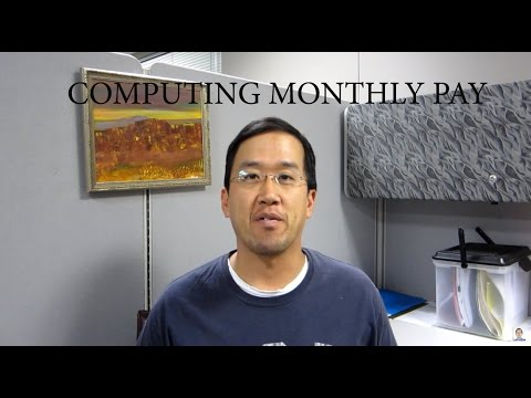 Legal Math - Computing Monthly Pay - The Law Offices of Andy I. Chen