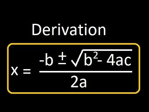 Formula to find the roots of a quadratic equation | Derivation | Proof