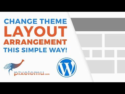 How to change the WordPress theme layout?
