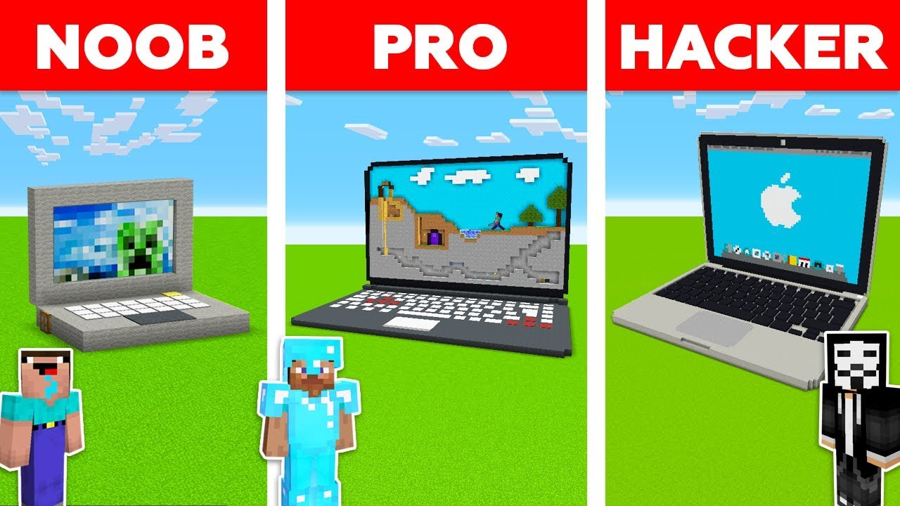 Minecraft Battle: NOOB vs PRO vs HACKER: NEW APPLE MacBook in Minecraft! / Animation