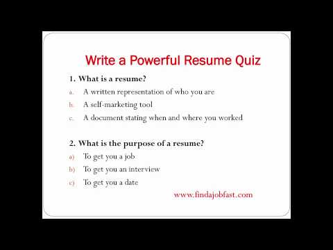 How to write a powerful resume to find a job fast