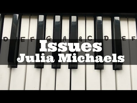 Issues - Julia Michaels | Easy Keyboard Tutorial With Notes (Right Hand)
