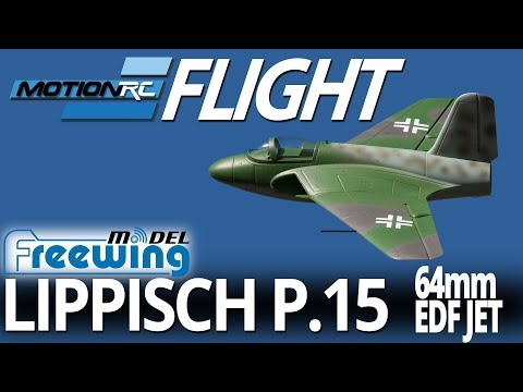 Freewing Lippisch P.15 64mm EDf Jet - Flight Review - Motion RC