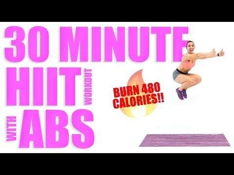 30 Minute HIIT Workout With Abs 🔥Burn 480 Calories! 🔥
