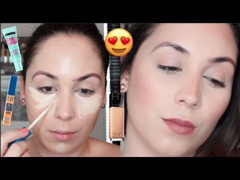 FLAWLESS DRUGSTORE FOUNDATION ROUTINE FOR DRY SKIN | using AFFORDABLE BRUSHES