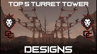 TOP 5 TURRET TOWER DESIGNS!   EASY TO BUILD   ARK: Survival Evolved