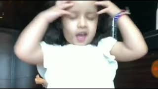 Dhoni daughter supporting CSK team | papa come-on!