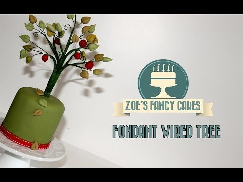 How to make a fondant wired tree cake decorating How To Tutorial Zoes Fancy Cakes