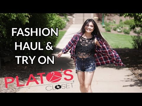 PLATO'S CLOSET HAUL & TRY ON | SECOND HAND CLOTHING LOOKBOOK