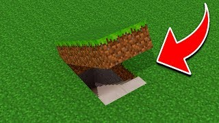 Download How To Make a EASY Secret Base in Minecraft Pocket Edition (Hidden House Tutorial) Video