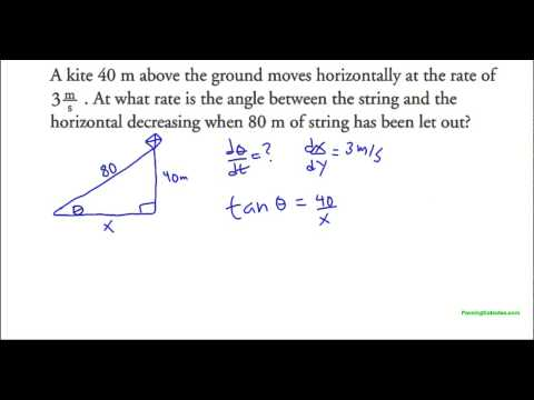 Related Rates With Right Angle Trigonometry (Kite Example)