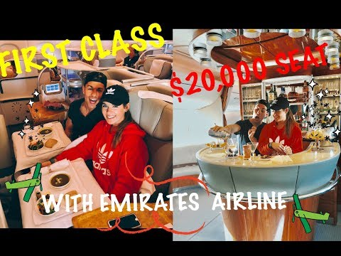 WE FLEW FIRST CLASS WITH EMIRATES AIRLINE.... ($20,000) SEAT