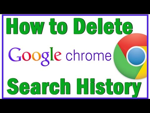 How To Delete Search History On Google Chrome 2015 - How to Clear Google Search History