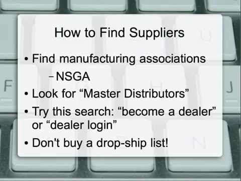 Finding Suppliers For Your Drop-ship Ecommerce Business