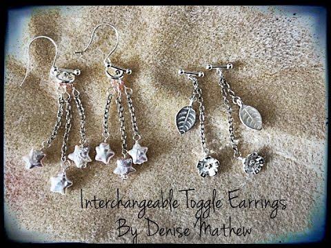 Interchangeable Toggle Earrings by Denise Mathew