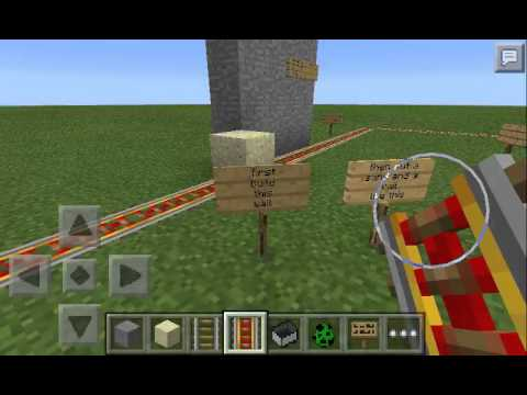 How to make a monster train in minecraft pe