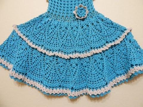 Vestido Crochet Olanes Para Niña Parte 2 De 3 Vidlyxyz