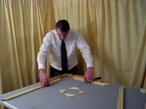 DIY stretcher frames for canvas