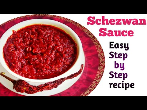 How to make Schezwan sauce at home | Schezwan chutney recipe | easy step by step