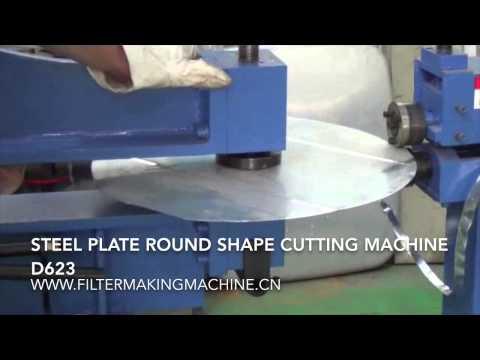 steel plate round shape cutting machine www.filtermakingmachine.cn
