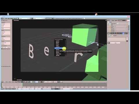 Blender 3d Modeling Tutorial (3) - Animation and Text Effects