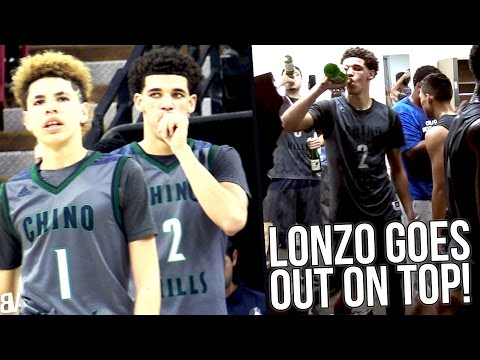Lonzo Ball's LAST High School Game! SAVES State Title & Undefeated Season! Chino Hills v De La Salle