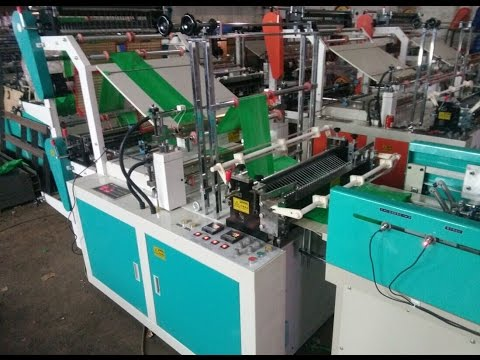 SHXJ-C700  Hot Sealing Cold Cutting Bag Making Machine with Inline handle Puncher