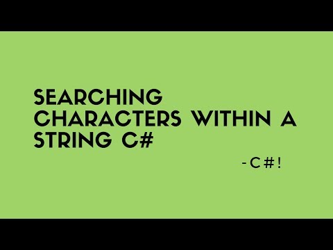 Searching characters within a string c#