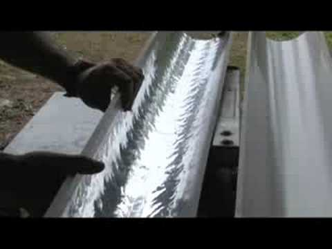 PARABOLIC TROUGH REFLECTOR SOLAR WATER HEATER GREEN POWER